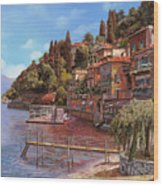 Varenna On Lake Como Wood Print by Guido Borelli