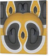Variation In Orange Wood Print