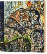 variation of Kardinsky Wood Print