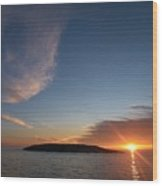 Variations Of Sunsets At Gulf Of Bothnia 2 Wood Print