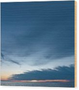 Variations Of Sunsets At Gulf Of Bothnia 4 Wood Print