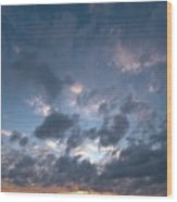 Variations Of Sunsets At Gulf Of Bothnia 5 Wood Print