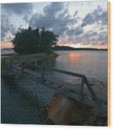 Variations Of Sunsets At Gulf Of Bothnia 6 Wood Print