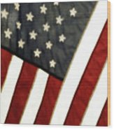 Variations On Old Glory No.4 Wood Print by John Pagliuca