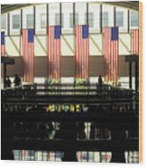 Variations On Old Glory No.8 Wood Print by John Pagliuca