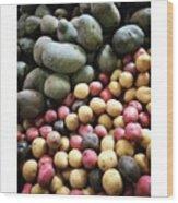 Variety Of Organic Potatoes At The Wood Print