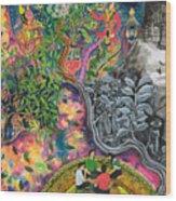 Variopinto De La Chacruna Wood Print