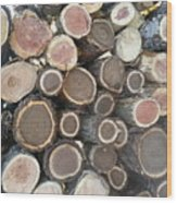 Various Firewood In The Round Wood Print