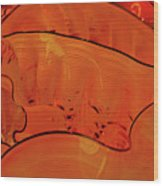 Various Orange Swirls Brown Accents Shiny 2 9132017  Wood Print