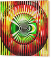 Vasarely Universe Wood Print
