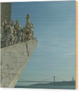 Vasco Da Gama In Lisbon Harbour. Wood Print