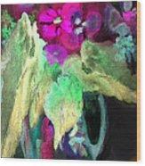 Vase Dancing In The Night Wood Print