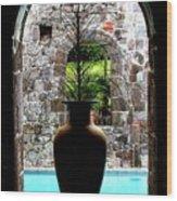 Vase In A Window Wood Print
