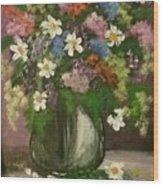Vase Of Flowers #1 Wood Print