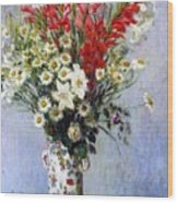 Vase Of Flowers Wood Print