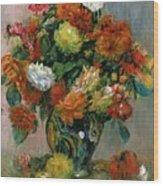 Vase Of Flowers Wood Print