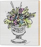 Vase With Flowers Wood Print