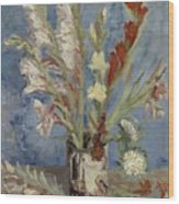 Vase With Gladioli And Chinese Asters Paris, August - September 1886 Vincent Van Gogh 1853  1890 Wood Print
