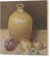 Vase With Onion Wood Print