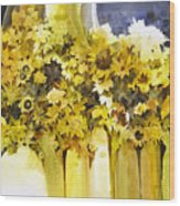 Vases Full Of Blooms    Wood Print