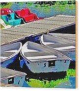 Boats Summer Vasona Park Wood Print