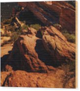 Vasquez Rocks And Stars Wood Print