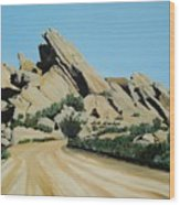 Vasquez Rocks Wood Print