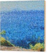 Vast Expanse Of The Ocean Wood Print