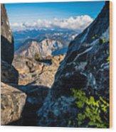 Vastly Majestic High Sierras Wood Print