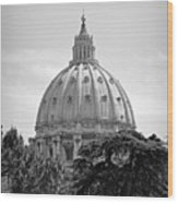 Vatican City Dome Wood Print