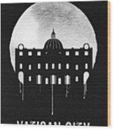 Vatican City Landmark Black Wood Print