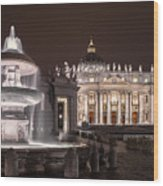 Vatican City Wood Print