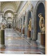 Vatican Museums Interiors Wood Print by Stefano Senise