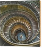 Vatican Staircase Wood Print