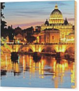 Vatican's St. Peter's Wood Print