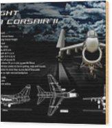 Vaught A-7a Corsair II Wood Print