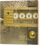 Vault Door Timing Device Wood Print
