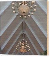 Vaulted Lights Wood Print