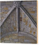 Vaulted Stone Ceiling Wood Print