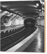 Vavin Station Paris Metro Wood Print