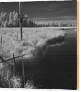 Vay Road Ditch 6 Wood Print