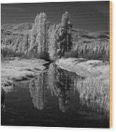 Vay Road Ditch Wood Print