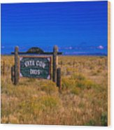 Vaya Con Dios Sign San Luis Valley Co Wood Print