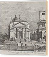Veduta Del Prospetto Della Chiesa Del Ss. Redentore Wood Print