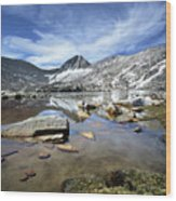 Vee Lake - Sierra Wood Print