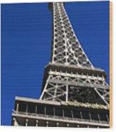 Vegas Eiffell Tower Wood Print