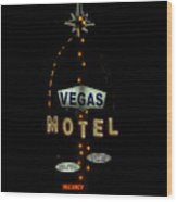 Vegas Motel  Wood Print