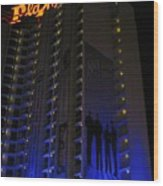 Vegas Plaza Wood Print