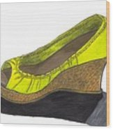 Vegas Shoes Wood Print