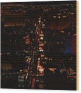 Vegas Strip Wood Print by D R TeesT